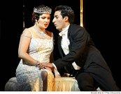A. Netrebko/Violetta, Charles Castronovo/Alfred, La Traviata, San Francisco (13. 6. 2009) Foto: B. Ward